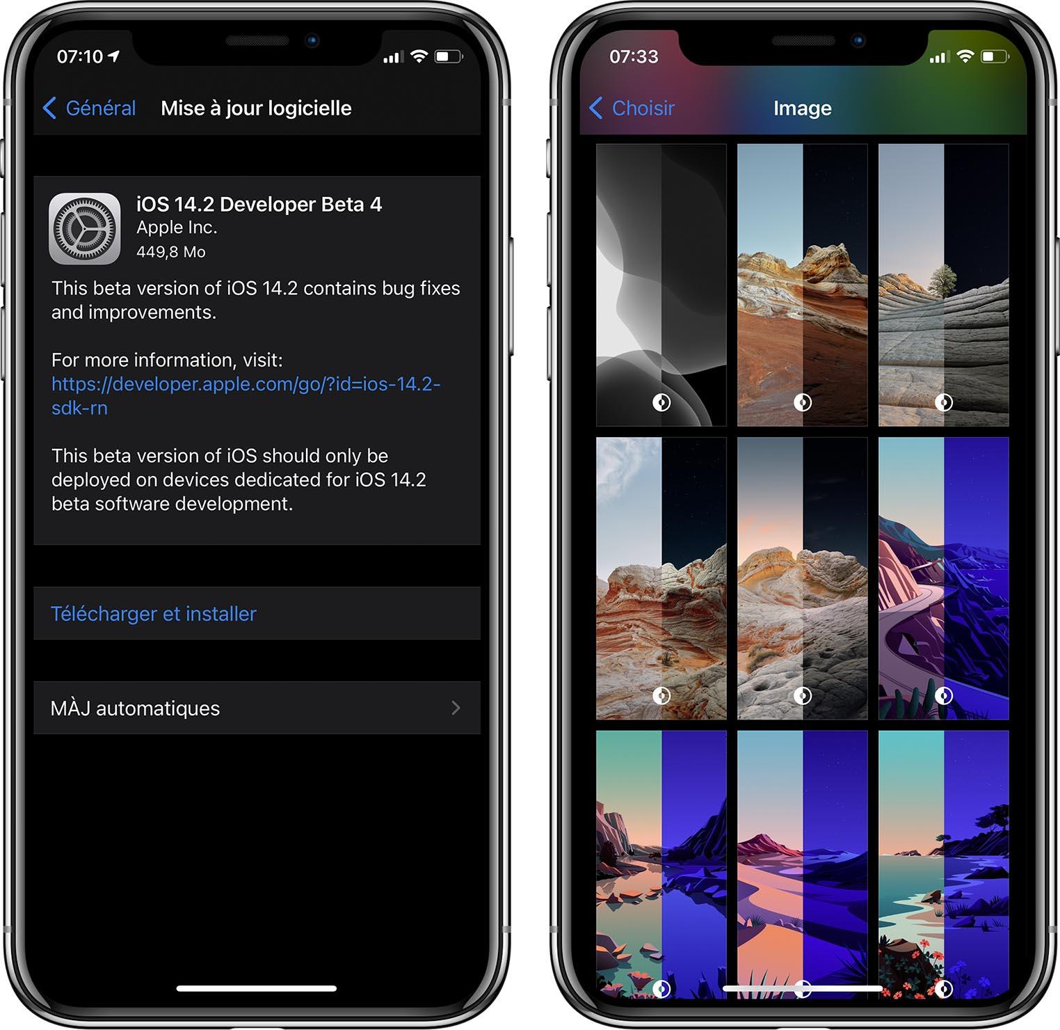 iOS 14.2 fonds d'écran