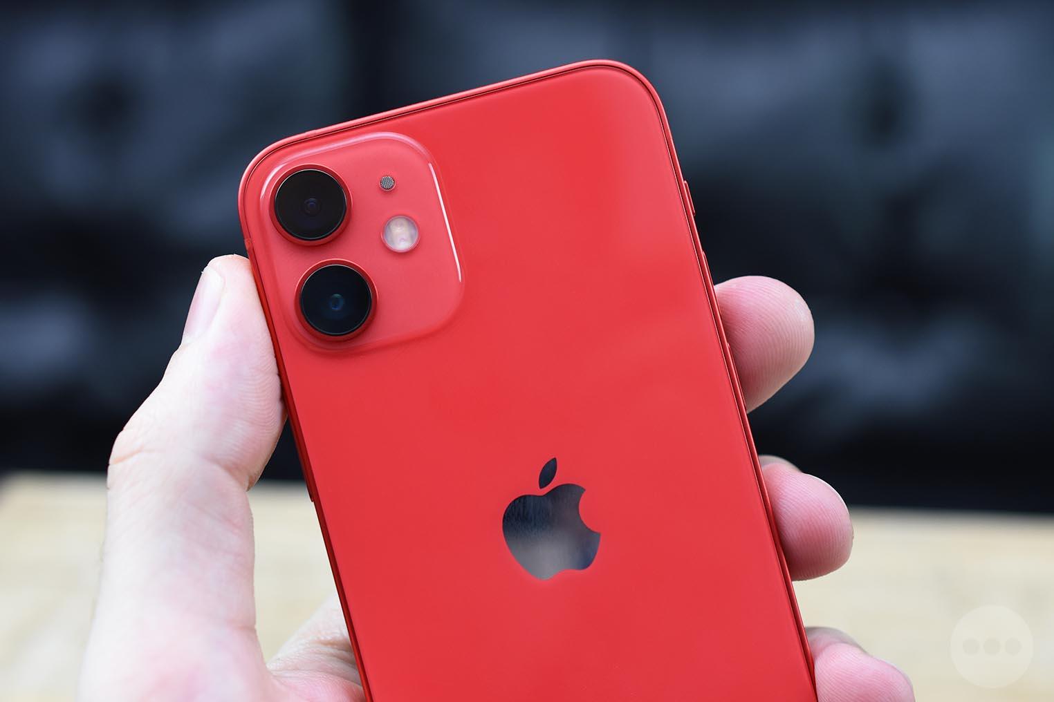 Caméras iPhone 12 rouge