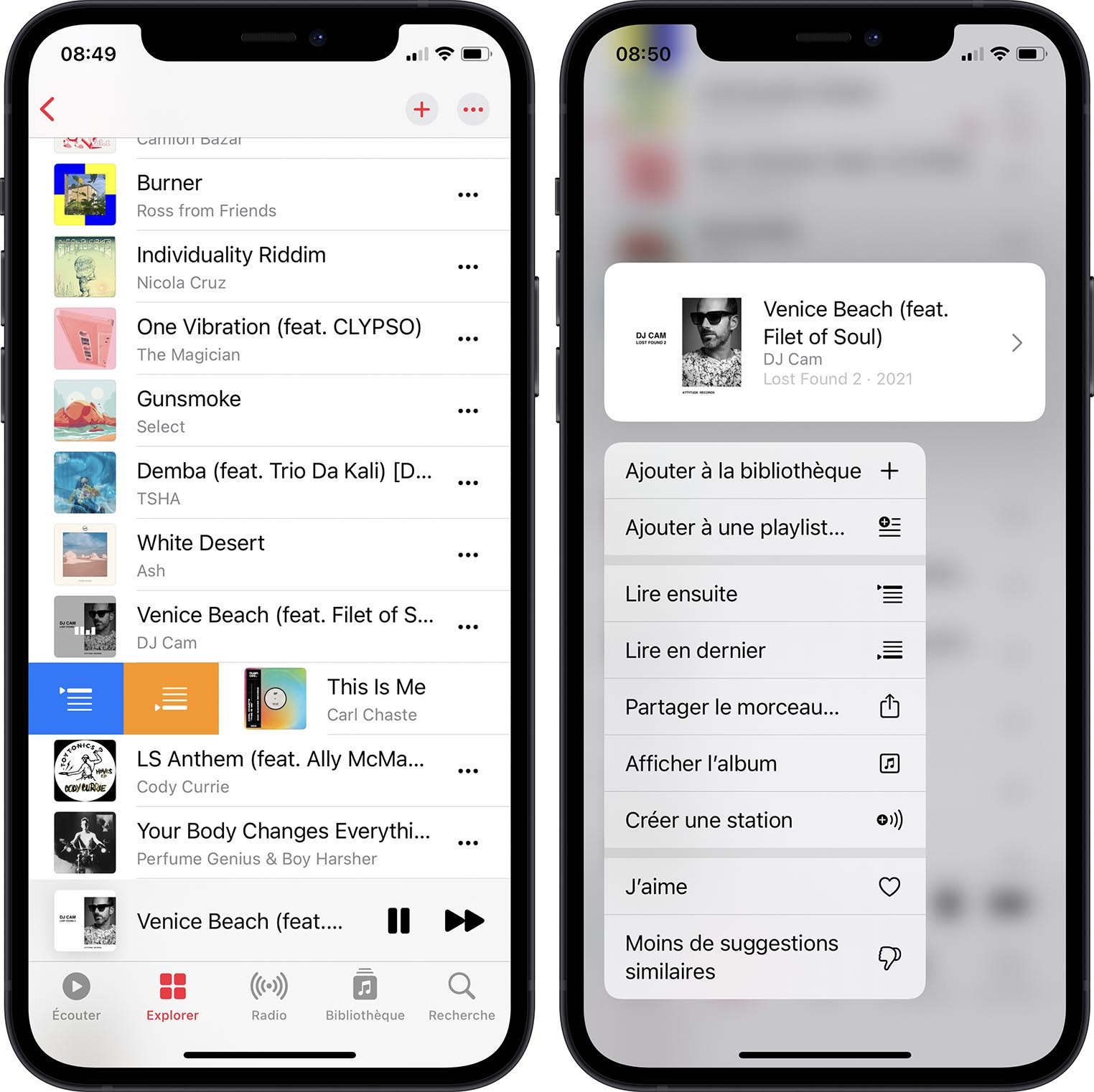 iOS 14.5 Options Apple Music