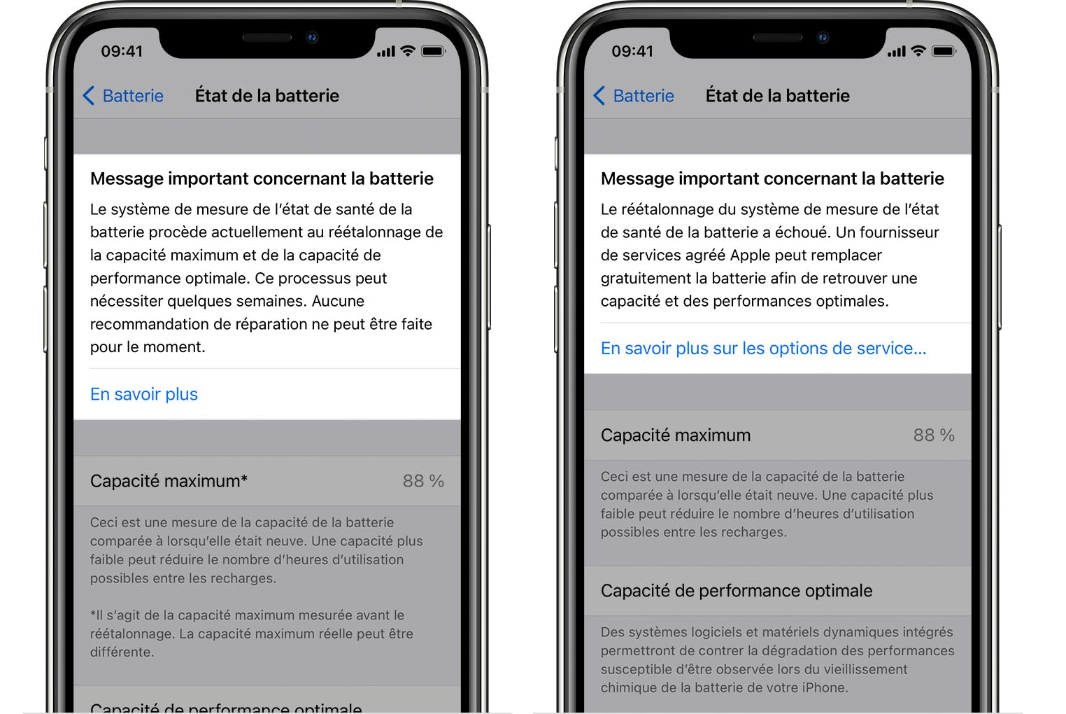 Réétalonnage batterie iPhone 11 iOS 14.5