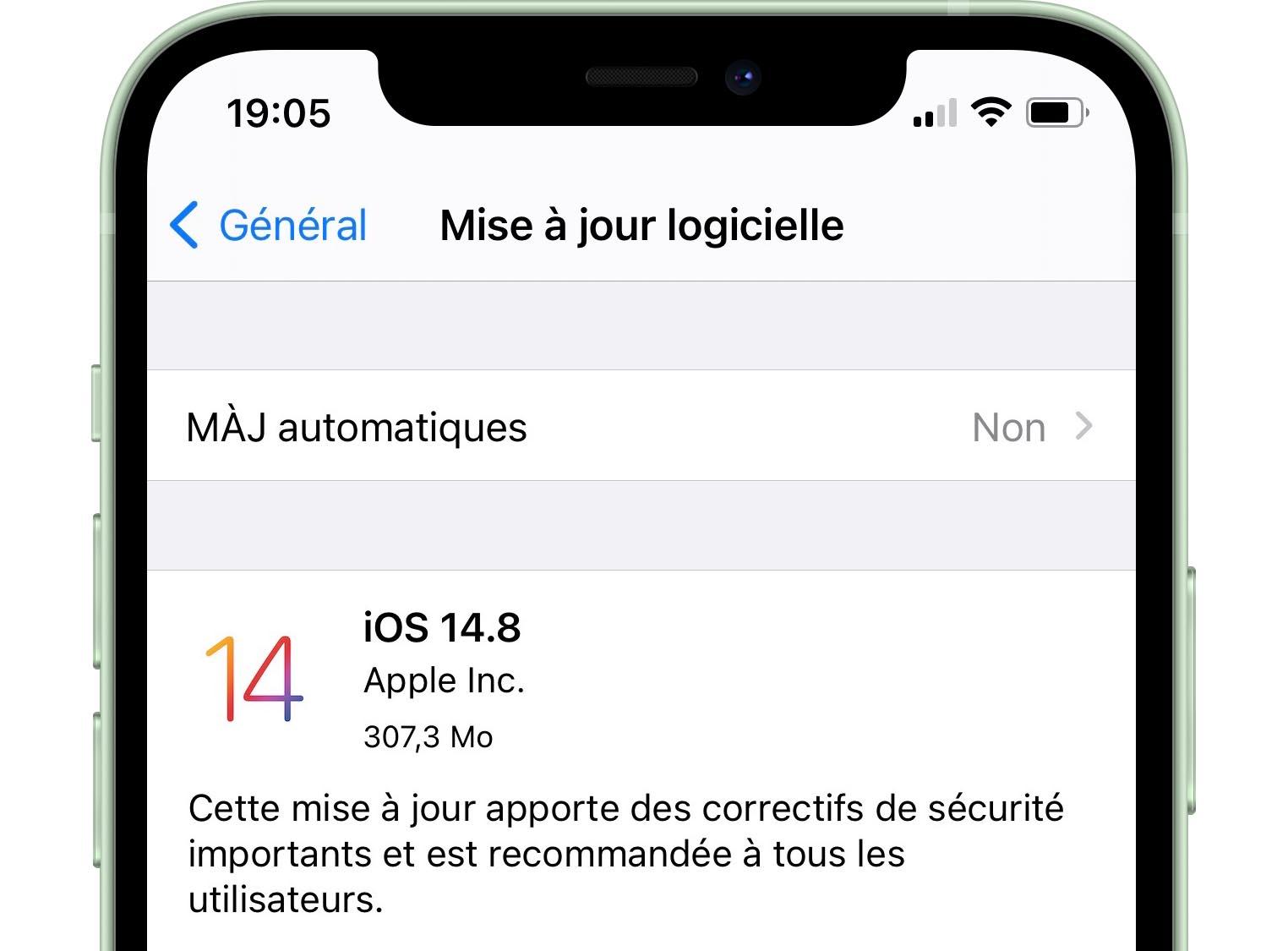 iOS 14.8 disponible