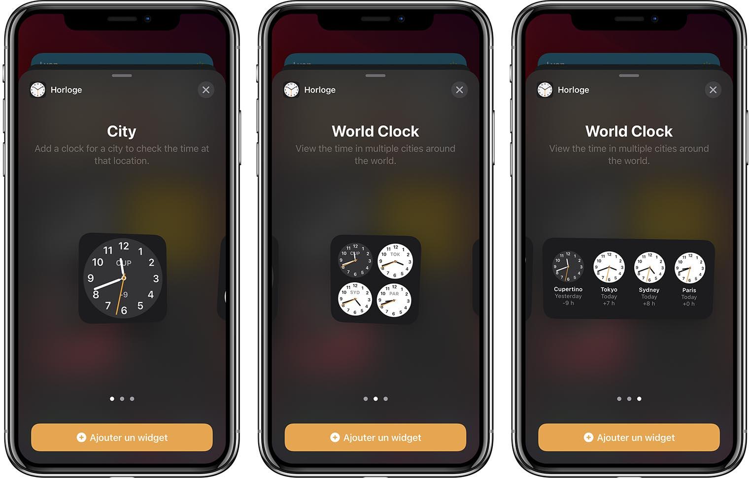 iOS 14 Bêta 3 Horloge