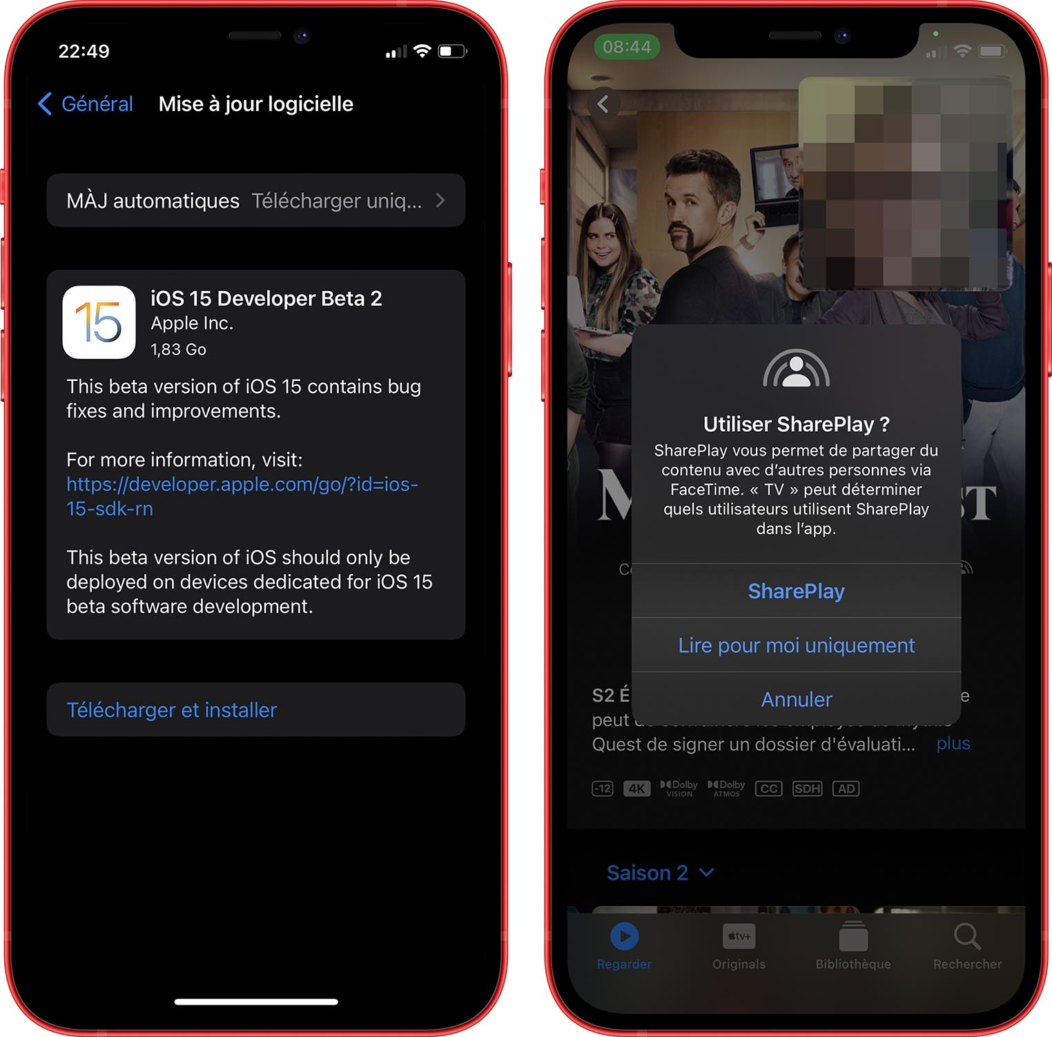 iOS 15 Beta 2 SharePlay