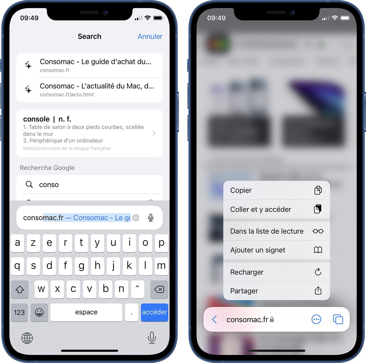 iOS 15 Bêta 3 Safari