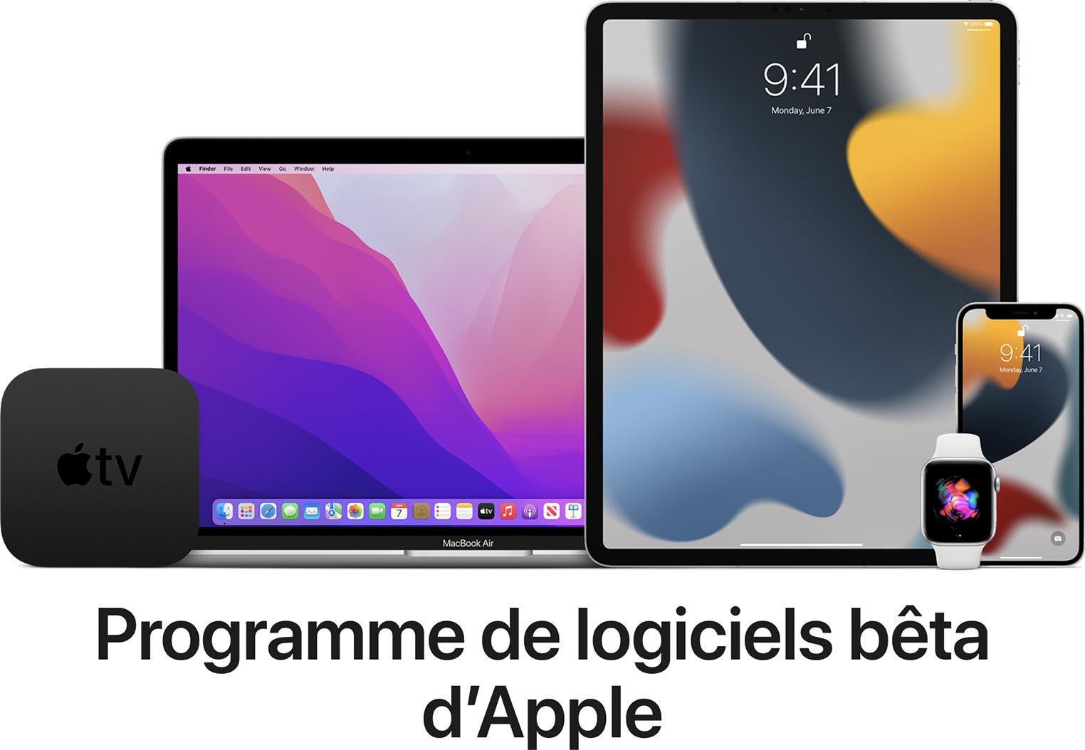 Betas publiques Apple 2021