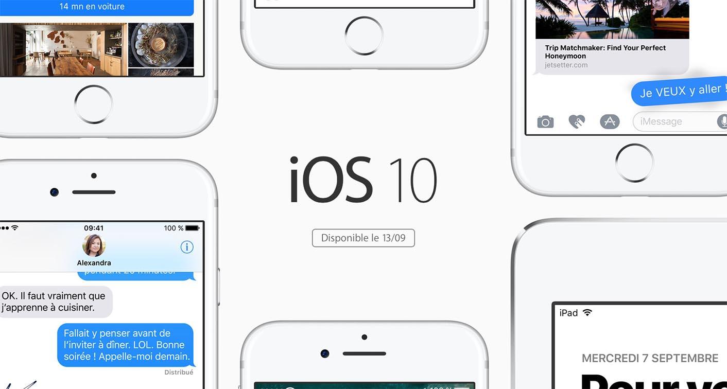iOS 10 sortie