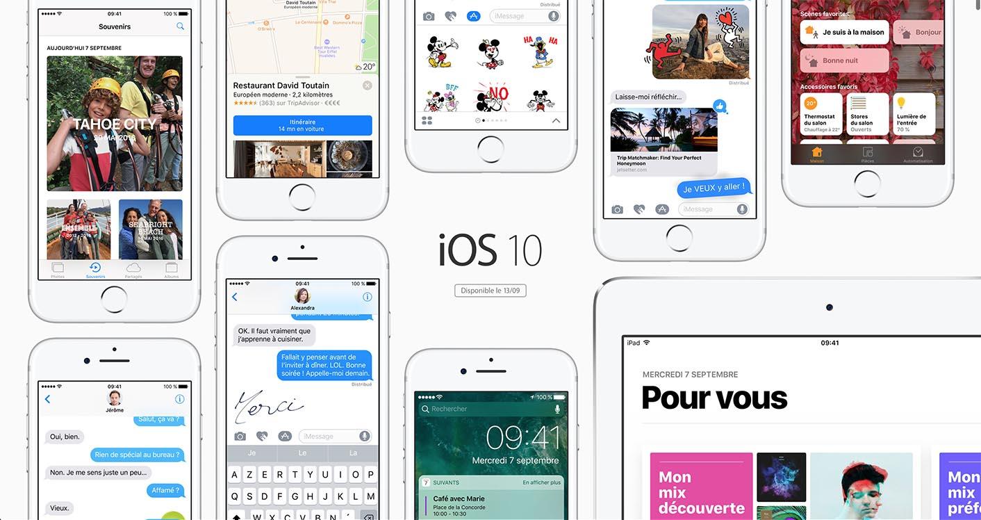 iOS 10 dispo