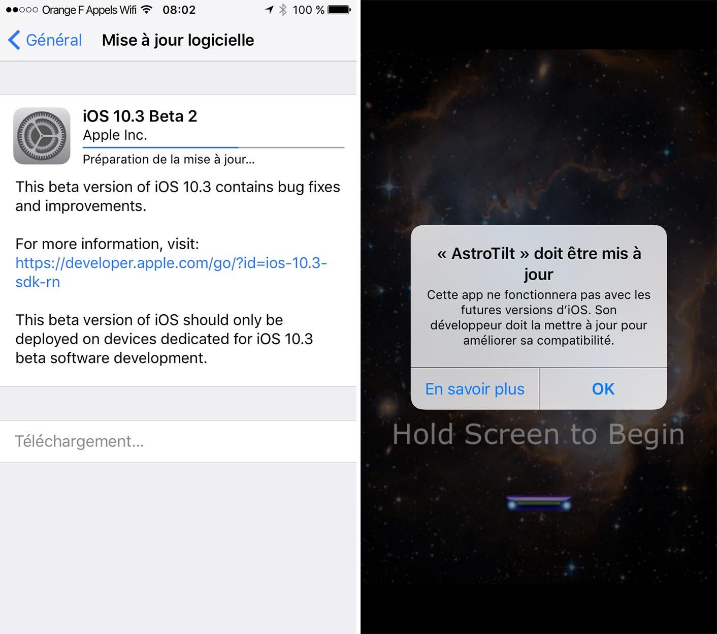 iOS 10.3 32 bits
