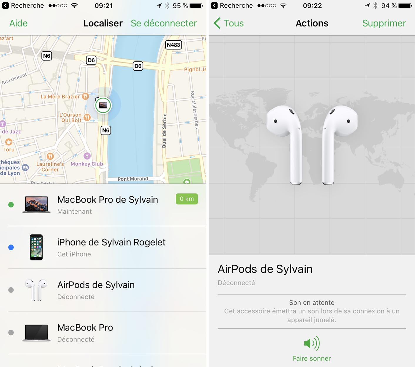 iOS 10.3 Find my AirPods