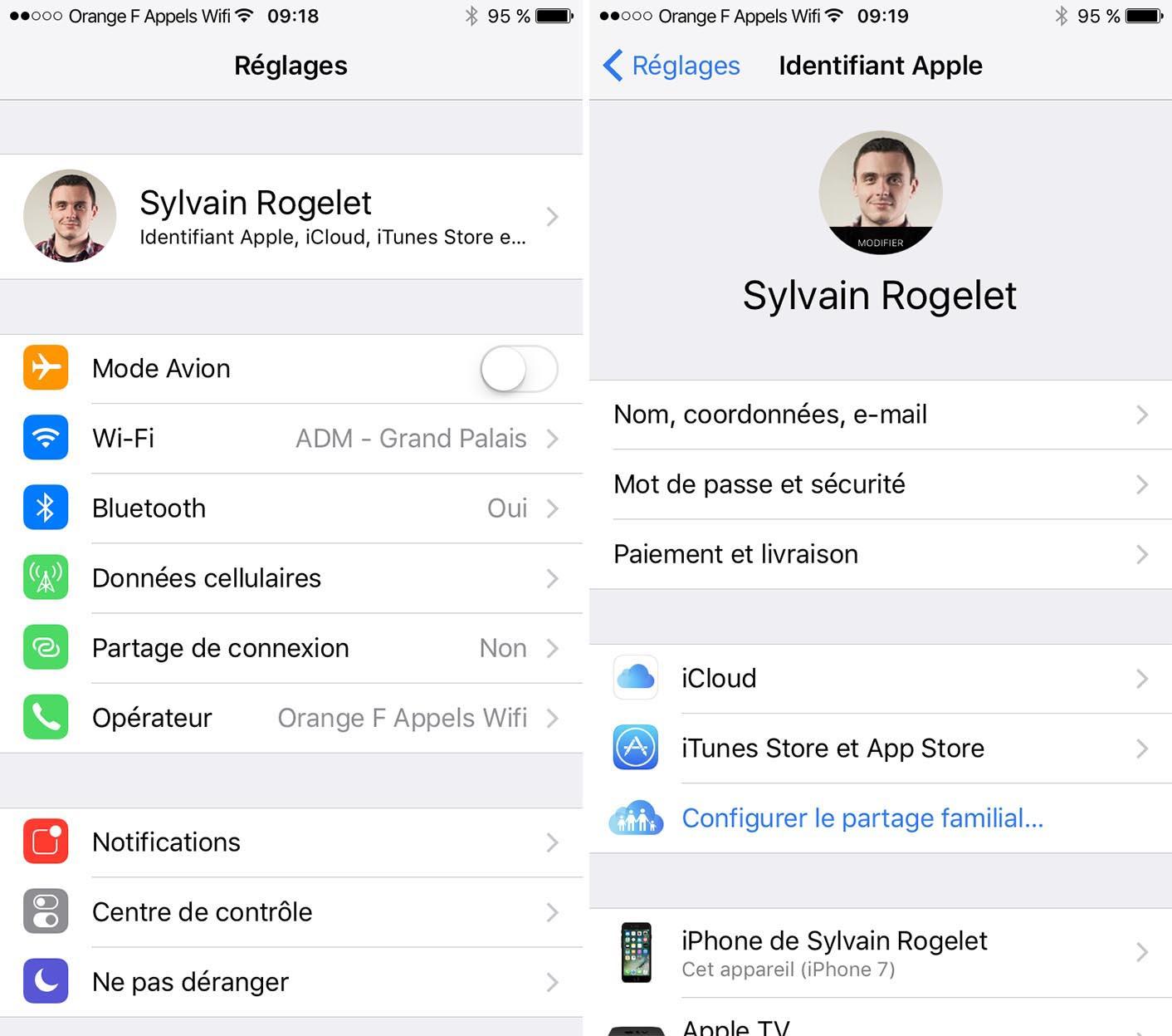 iOS 10.3 Réglages iCloud