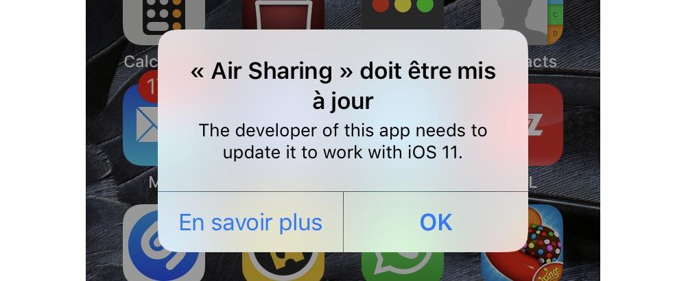 iOS 11 application 32 bits