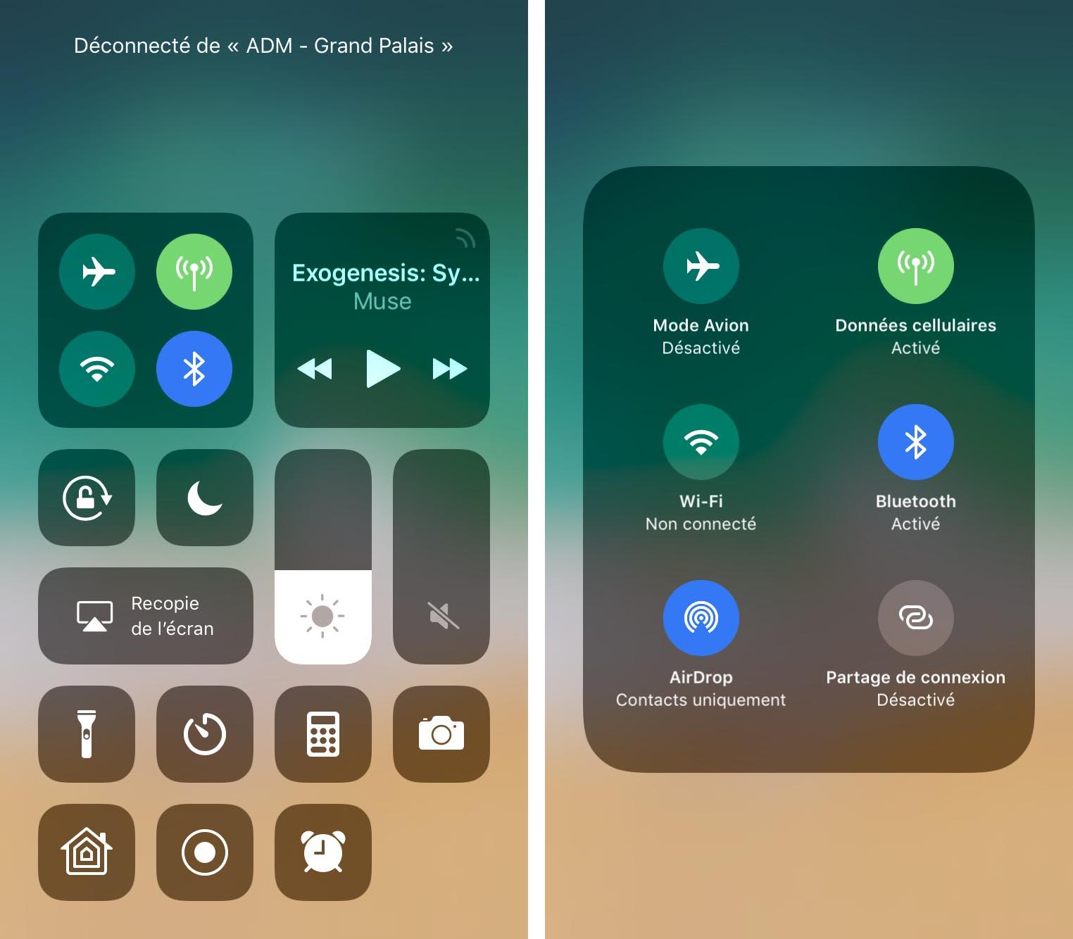 iOS 11 Centre de contrôle