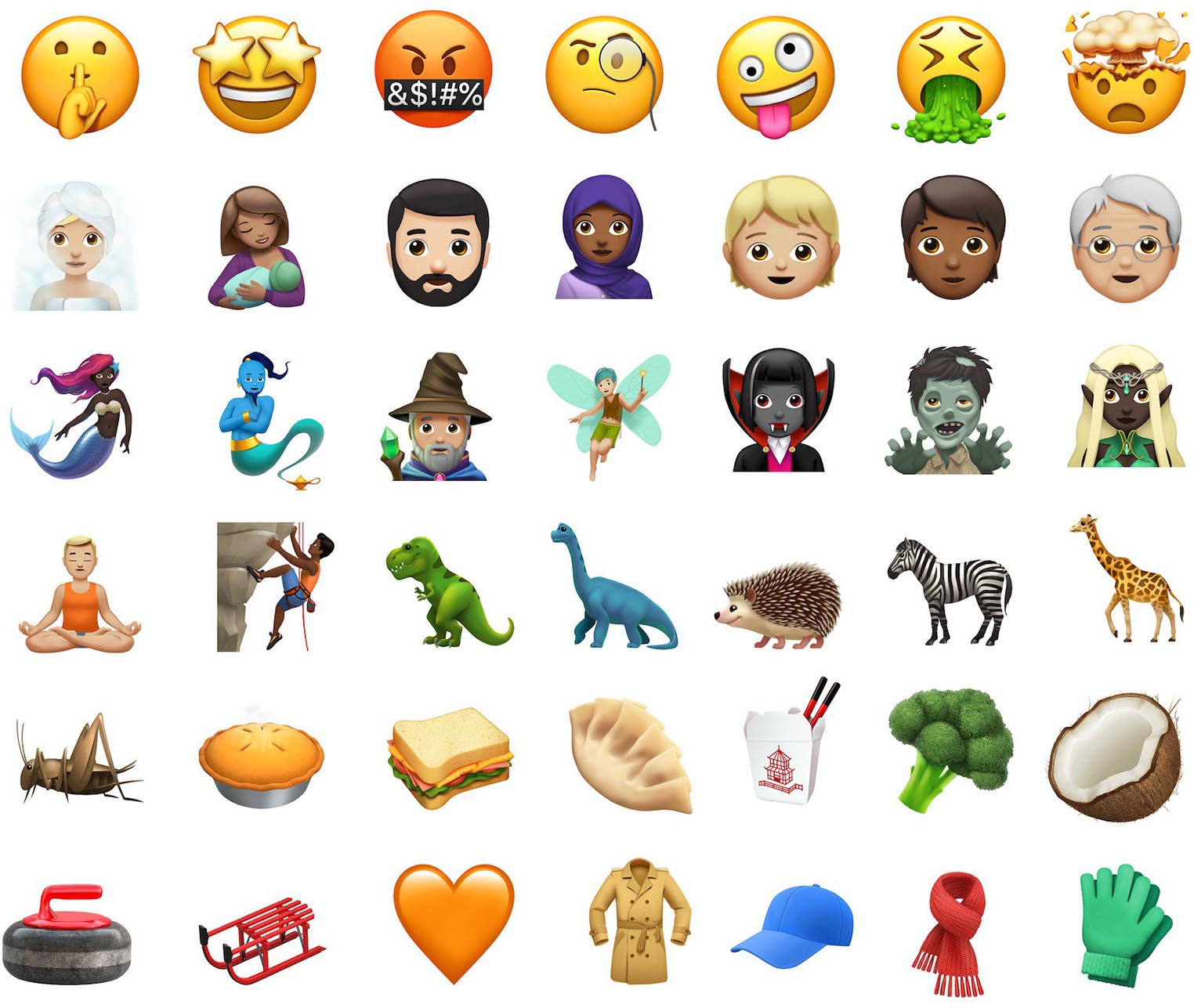 iOS 11.1 emojis