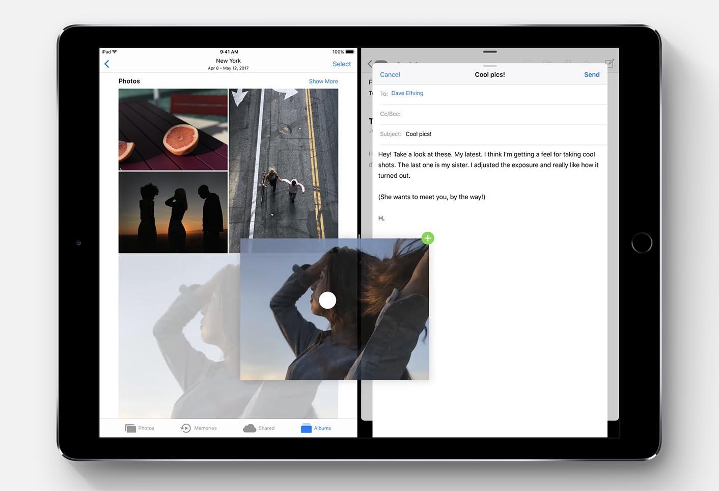 iOS 11 Glisser Déposer