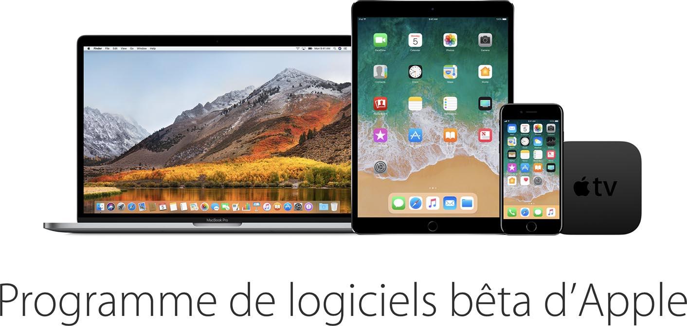 iOS 11 macOS 10.13 bêta publique