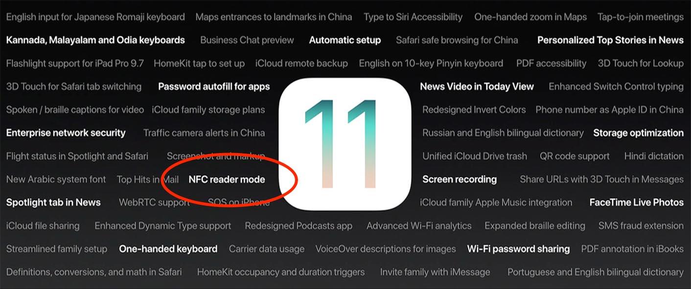 iOS 11 NFC reader