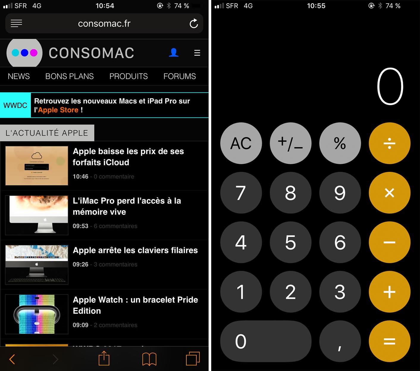 iOS 11 inversion couleurs