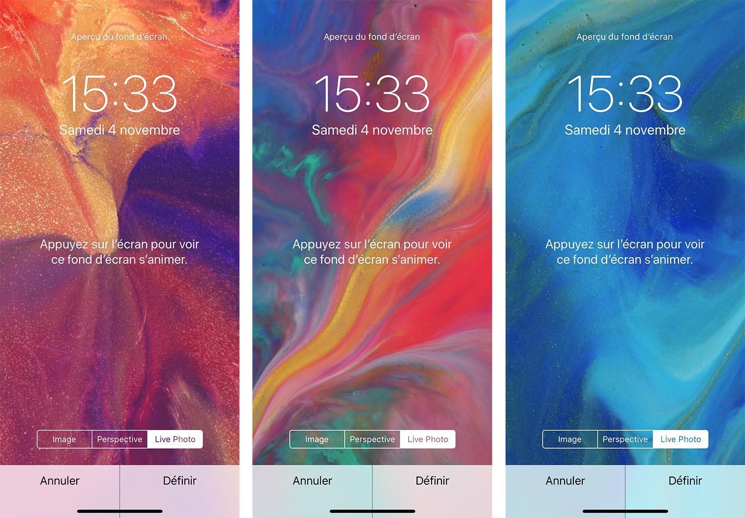 iOS 11.2 Bêta 2 fonds d'écran