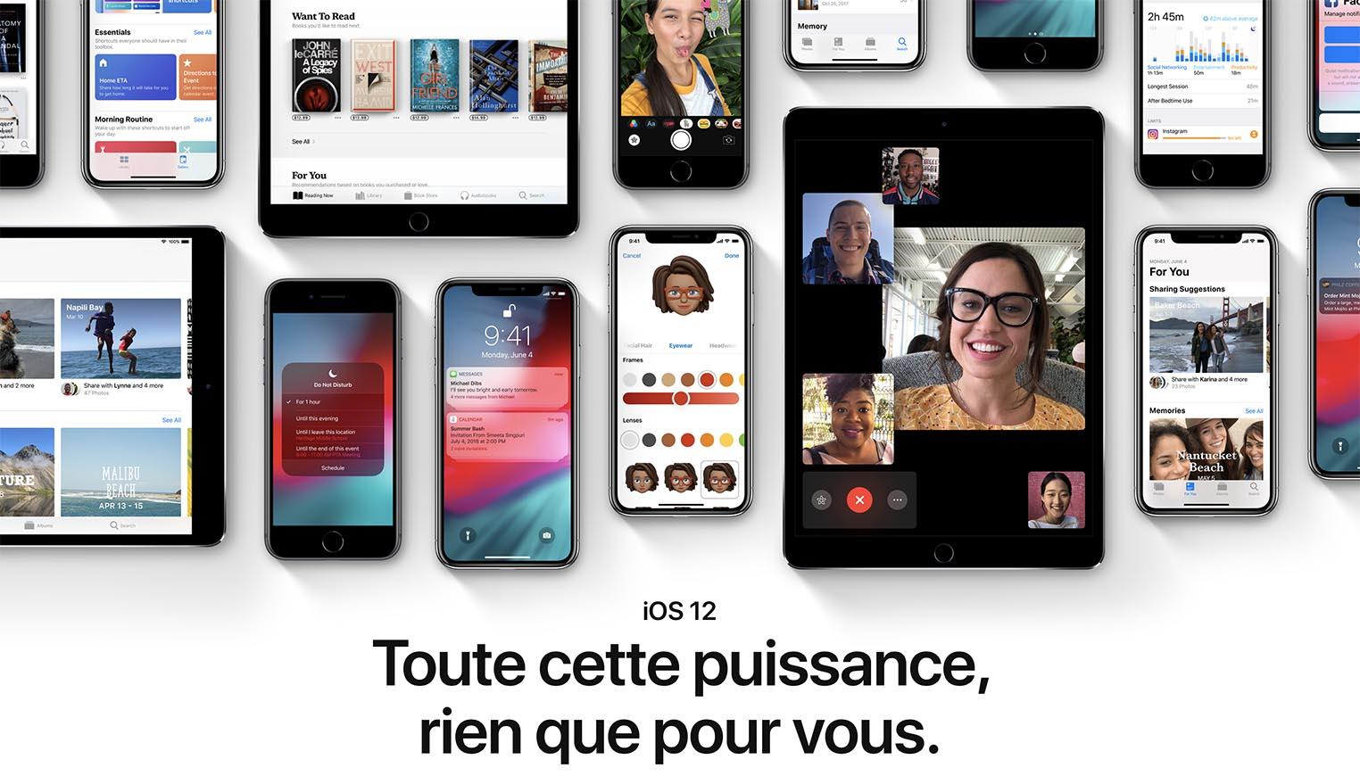 iOS 12 date sortie
