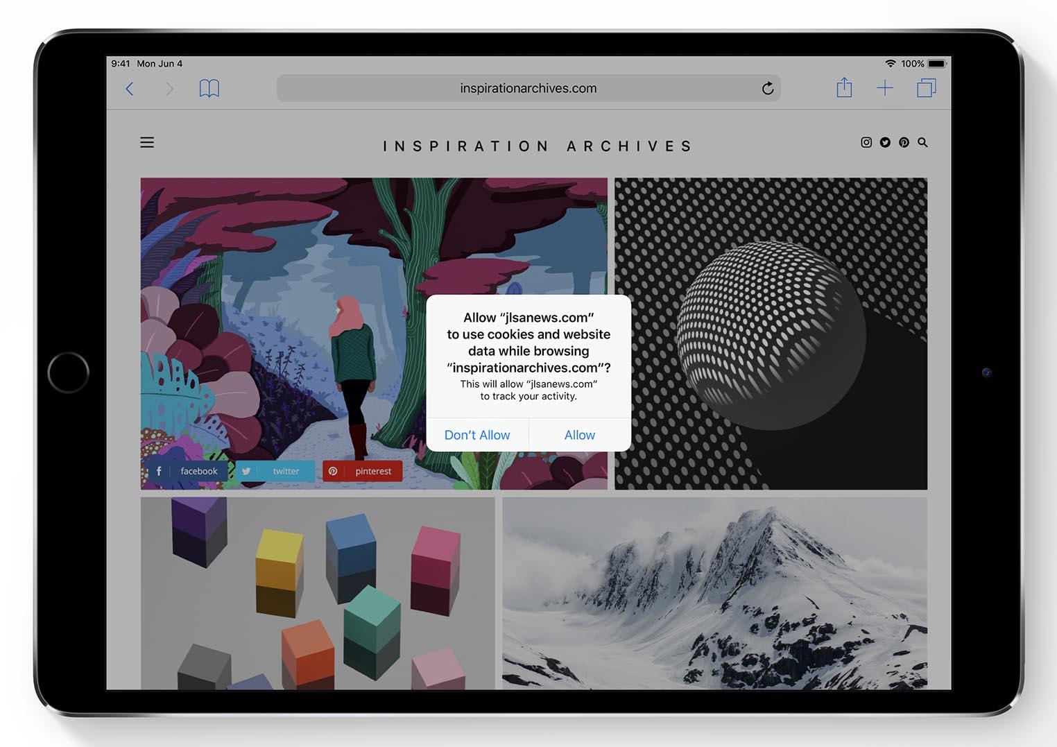 iOS 12 vie privée