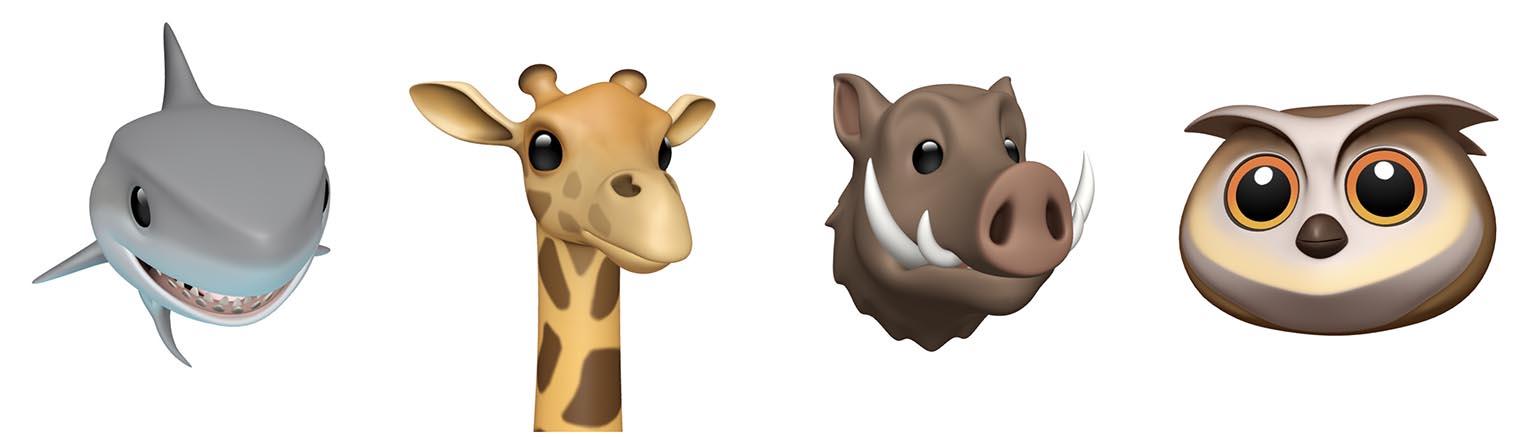 Animojis iOS 12.2