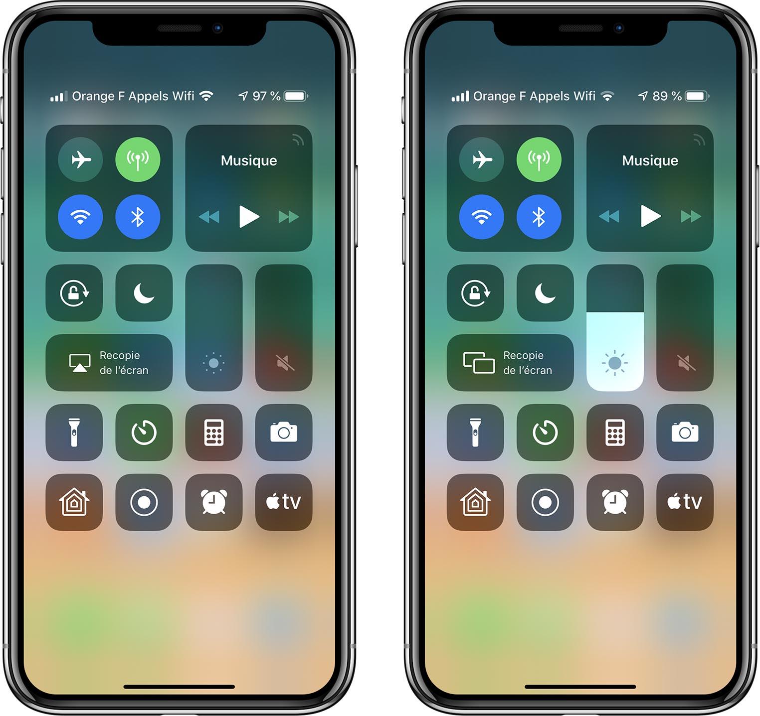 iOS 12.2 Centre de contrôle