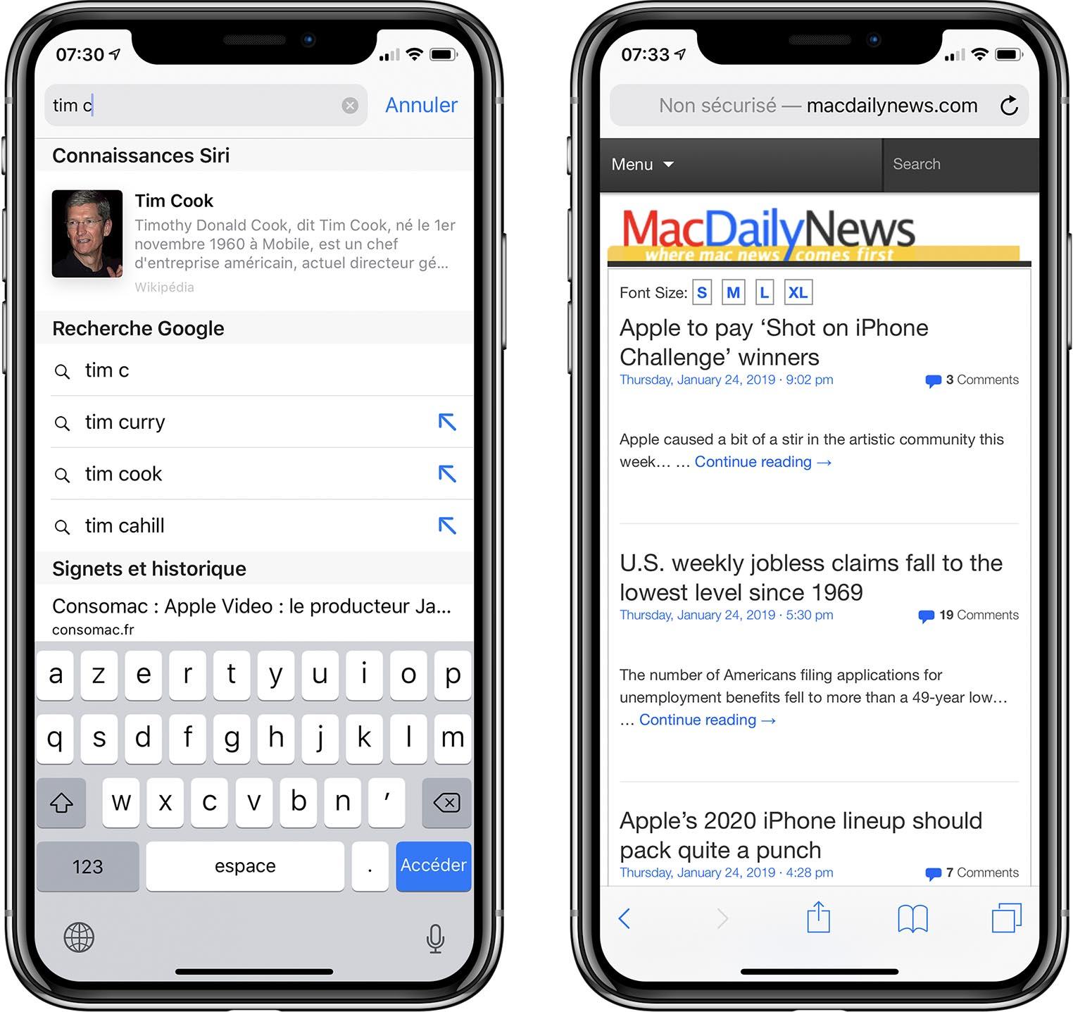 iOS 12.2 Safari