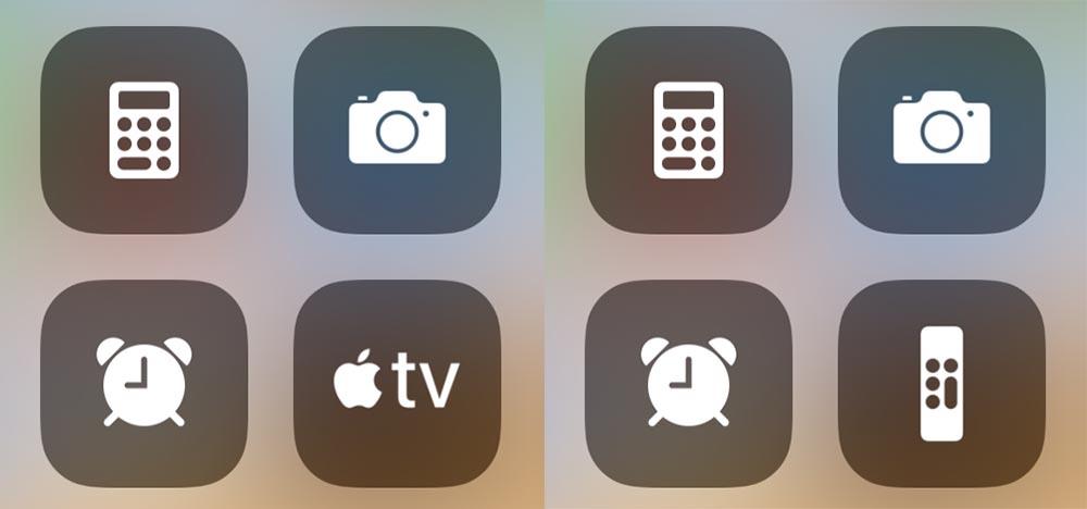 iOS 12.2 Télécommande icône