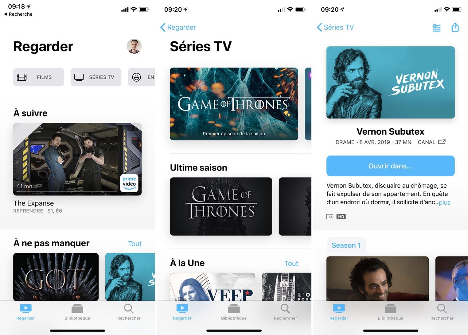iOS 12.3 application TV