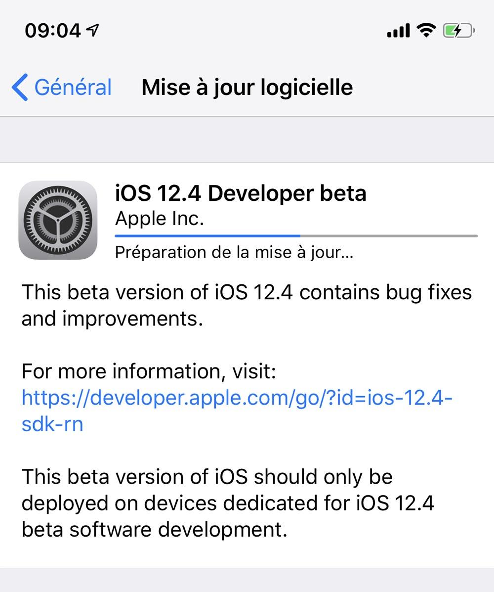 Des bêtas pour iOS 12.4, macOS 10.14.6, watchOS 5.3