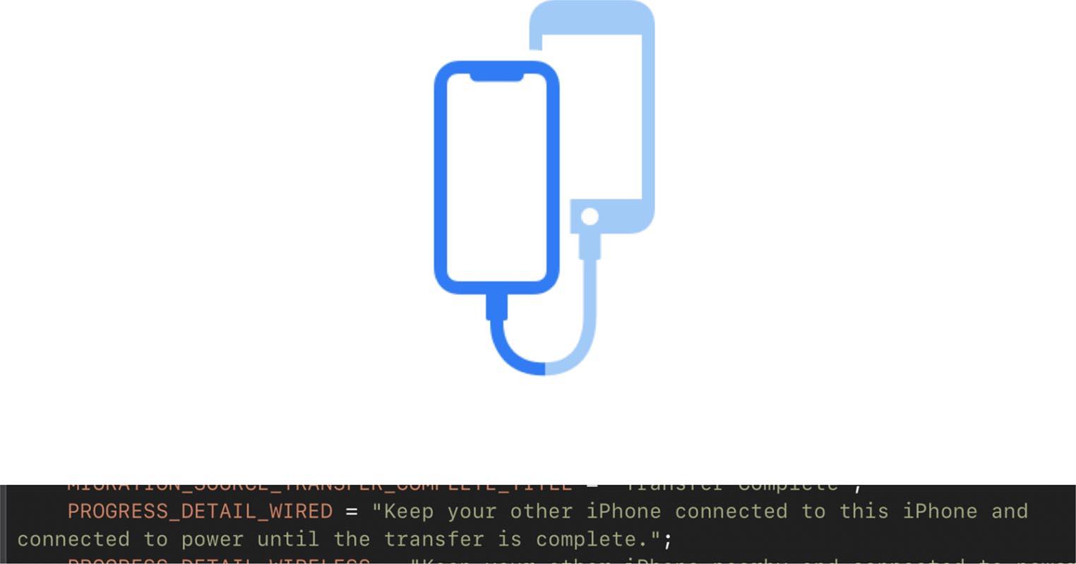 iOS 13 transfert câble