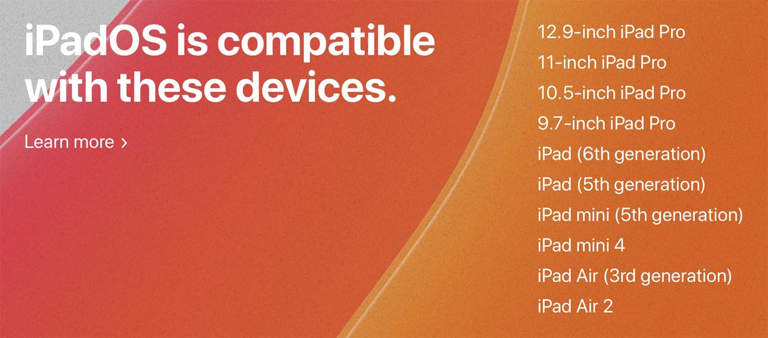 iOS 13 compatibilité iPad