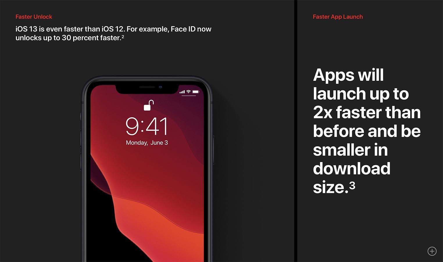 iOS 13 réactivité
