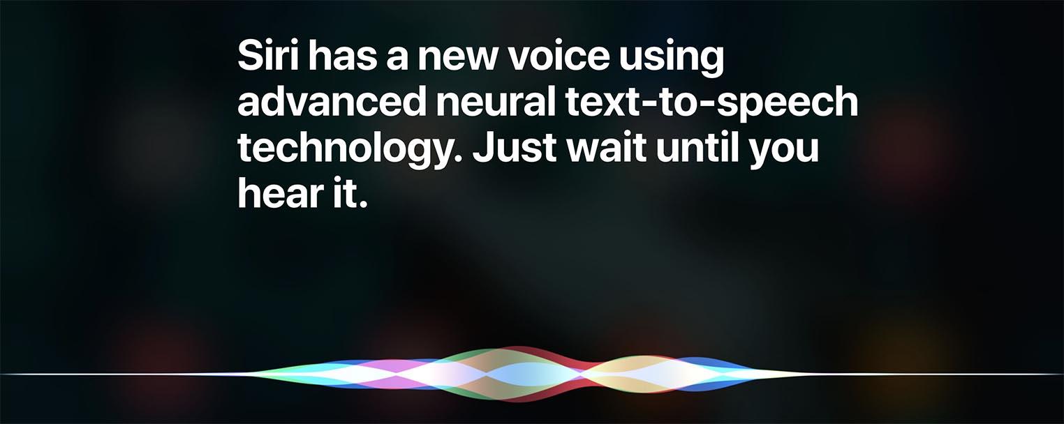 iOS 13 voix Siri