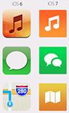 Icônes carrées iOS