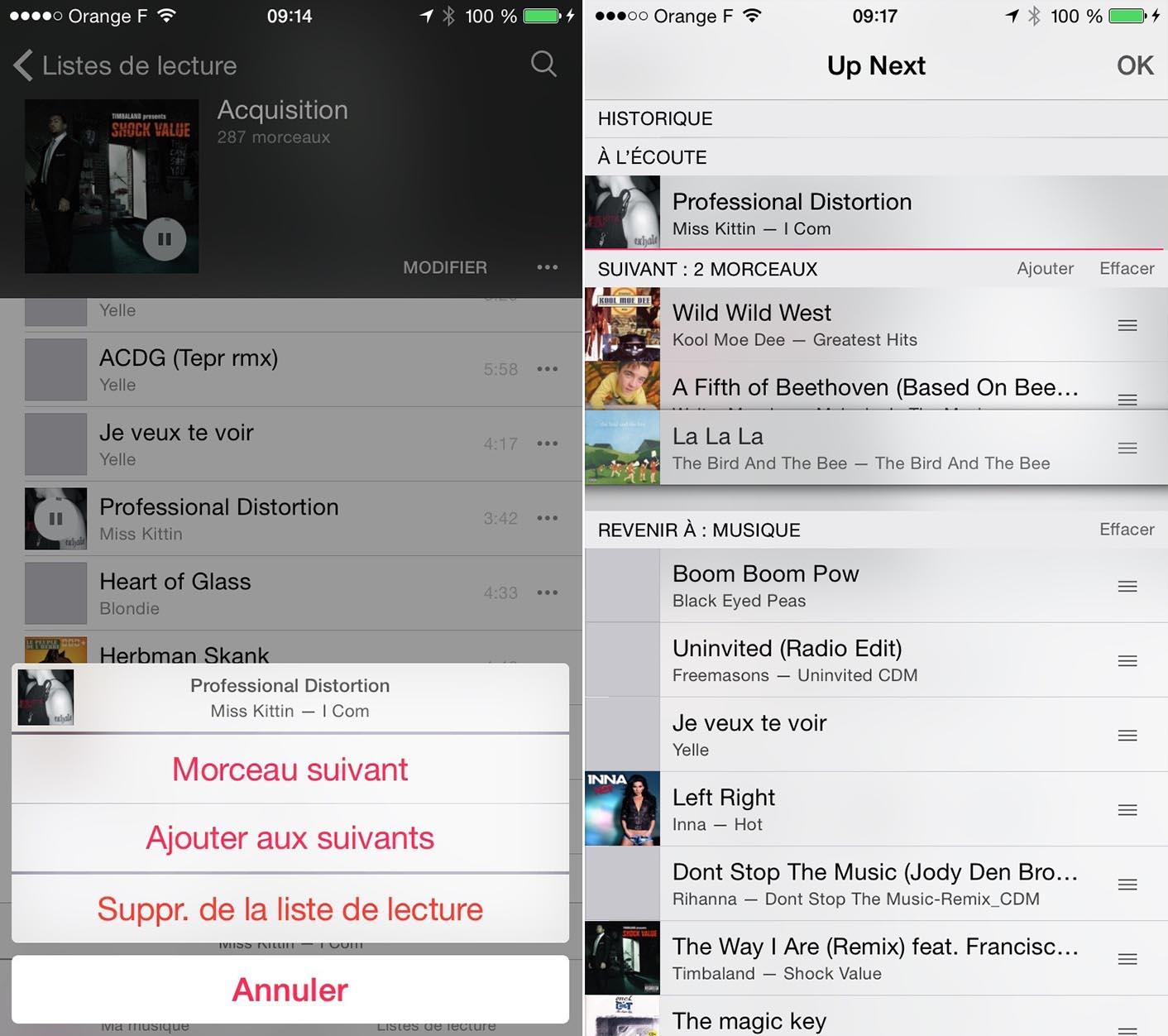 iOS 8.4 Musique