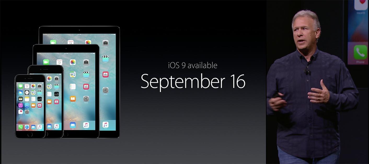 Sortie iOS 9