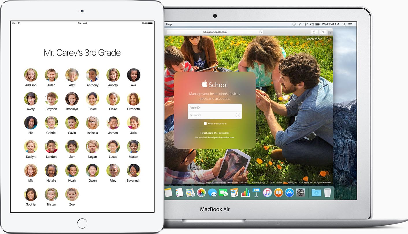 iOS 9.3 éducation