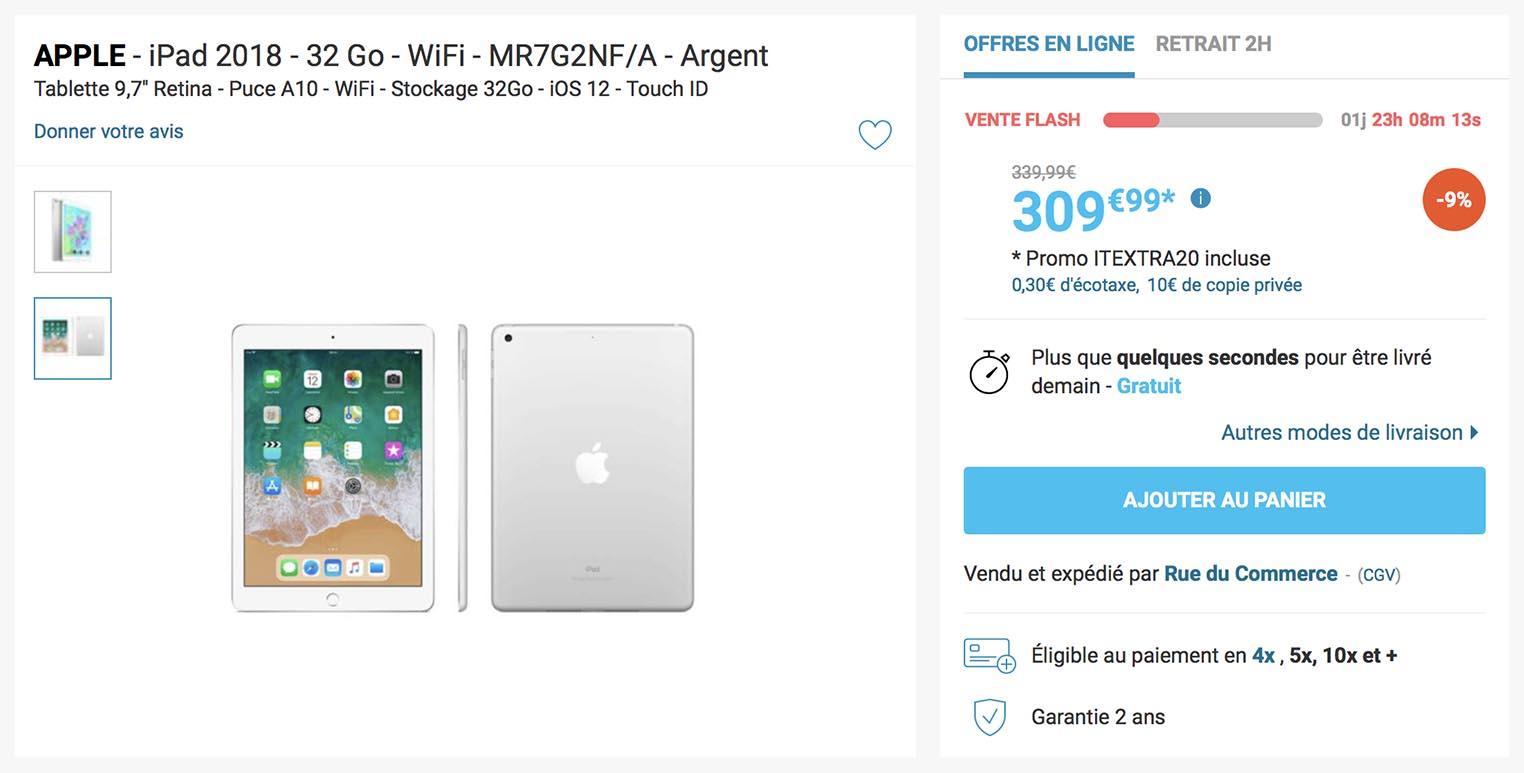 iPad 2018 vente flash