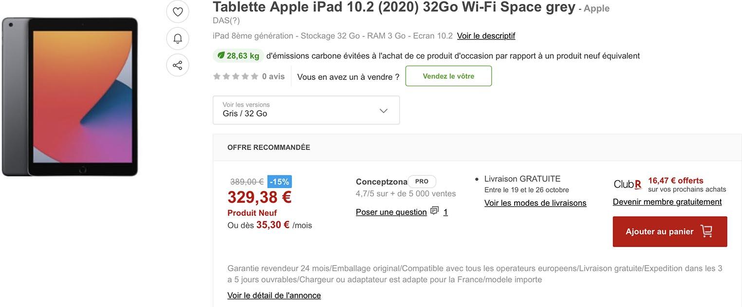 iPad 2020 Rakuten