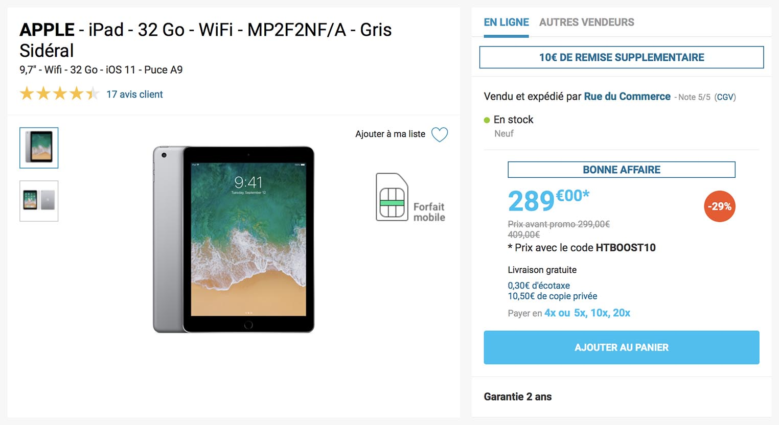 iPad soldes Rue du Commerce