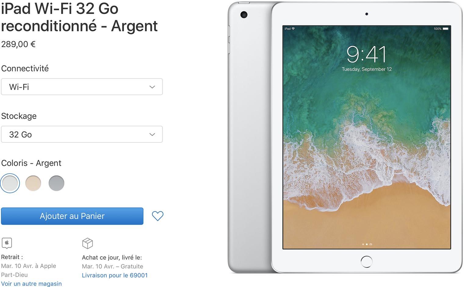 iPad 2017 Refurb Store