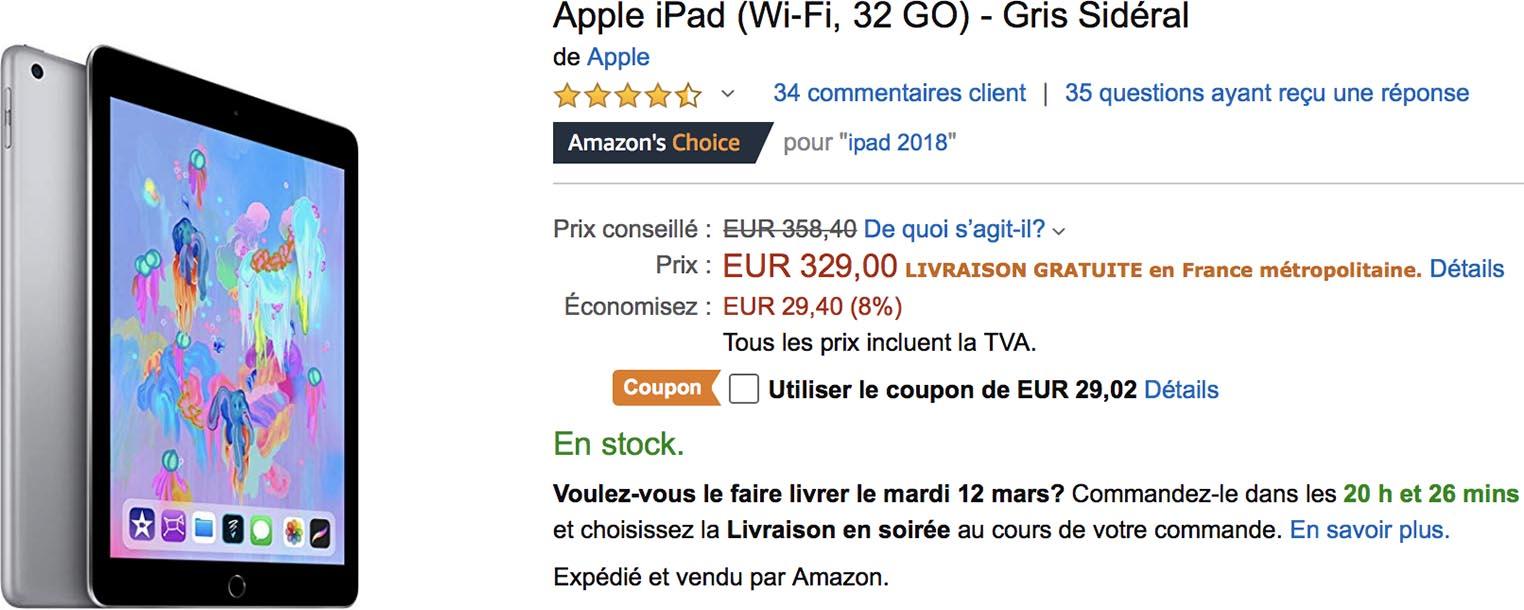 iPad 2018 promo Amazon
