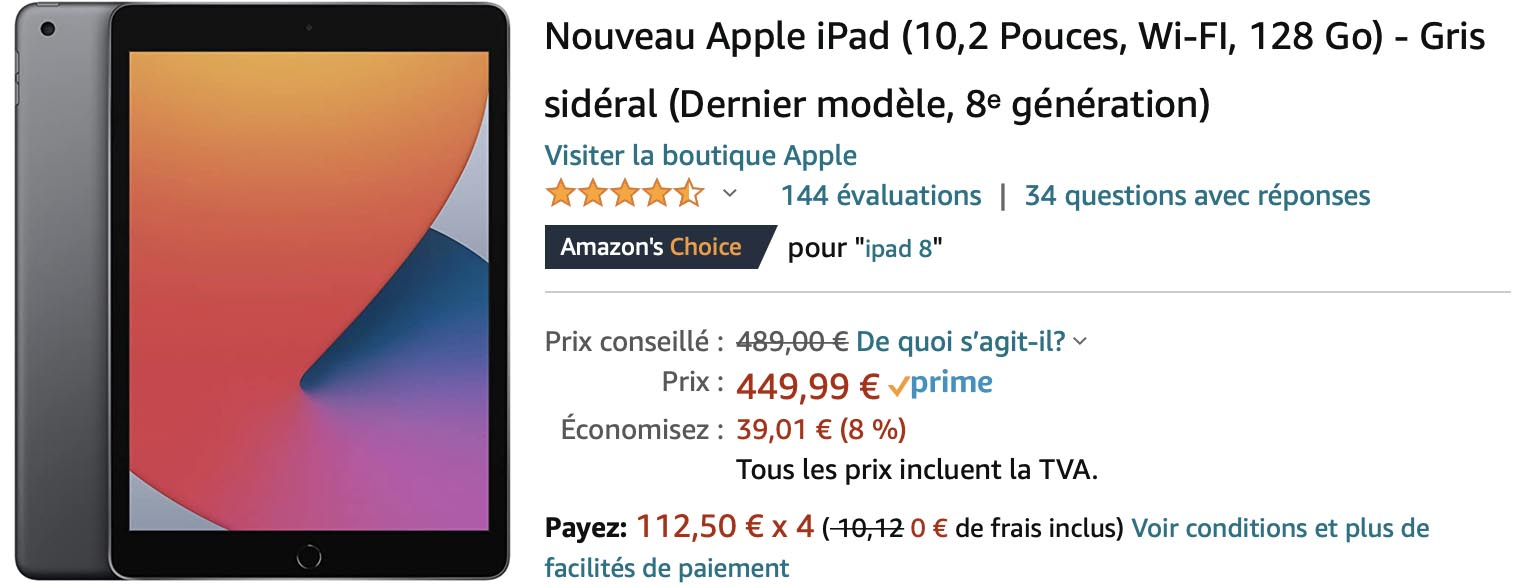 iPad 8 promo Amazon