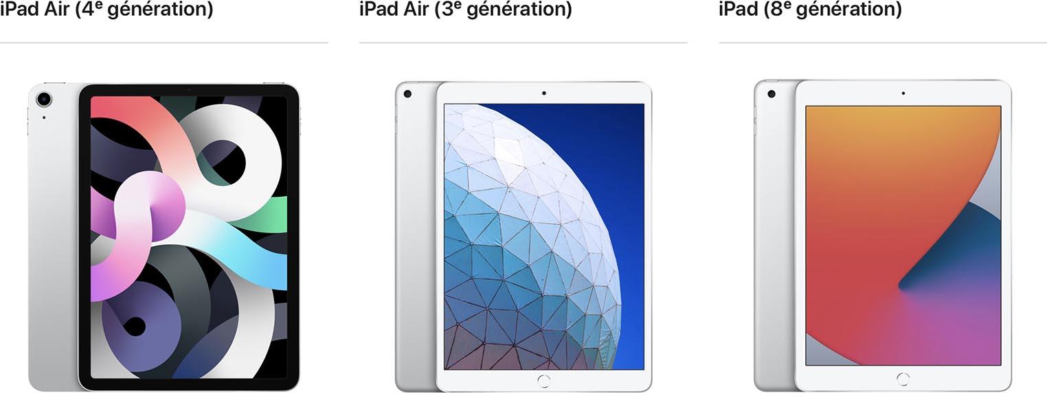 iPad Air 4 iPad Air 3 iPad 8
