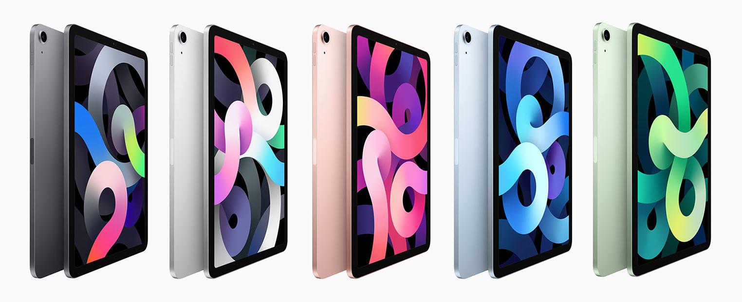 iPad Air 4 couleurs