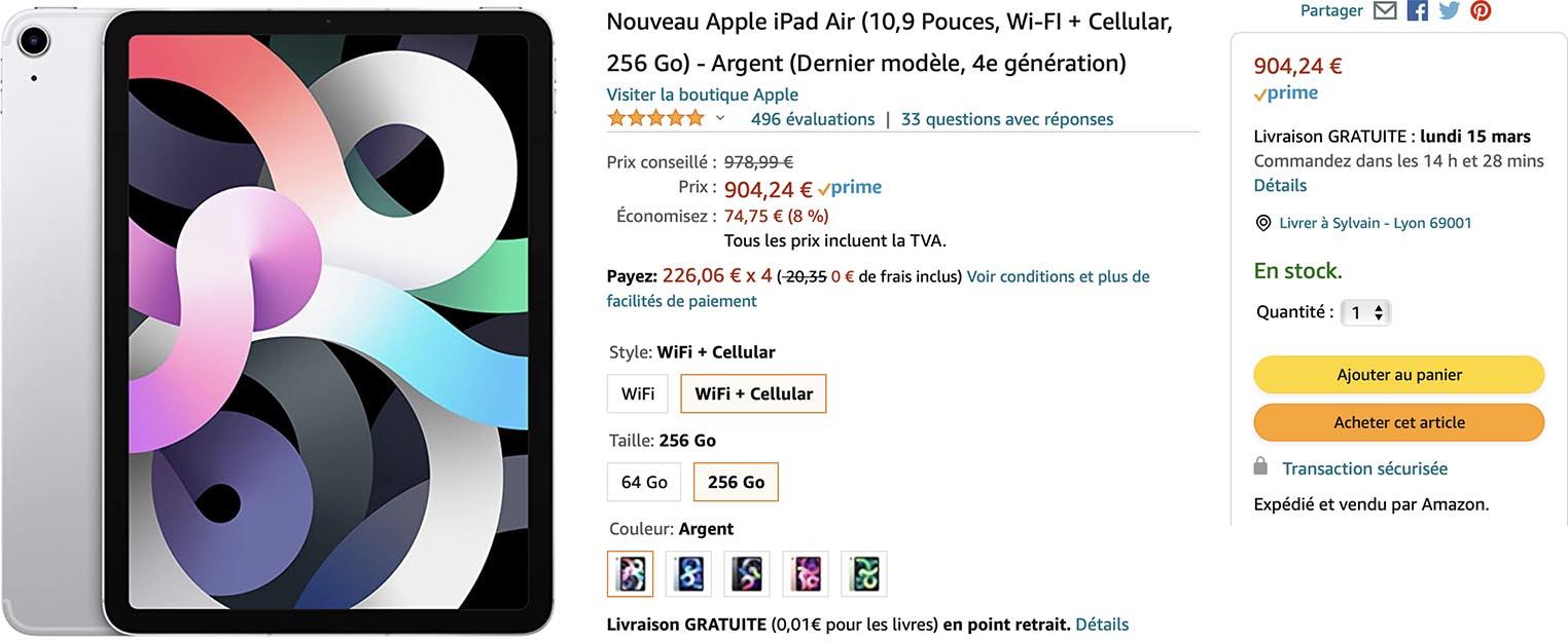 iPad Air promo Amazon