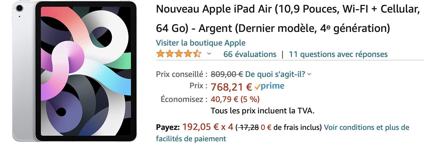 iPad Air 4 promo Amazon