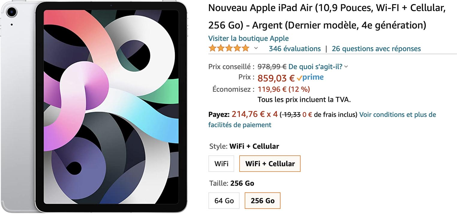 iPad Air 4 Amazon