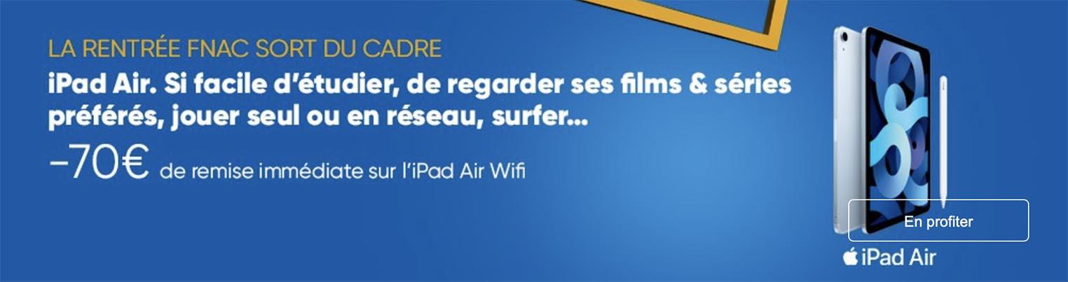 iPad Air 4 promo Fnac